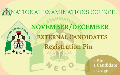Buy NECO Nov/Dec External Registration Cards Online
